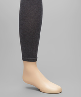 Me Moi Charcoal Pima Footless Tights - Toddler & Girls