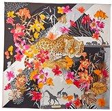 Salvatore Ferragamo Women's Patterned Silk Scarf, Nero