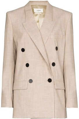 Etoile Isabel Marant Leagan double-breasted blazer jacket