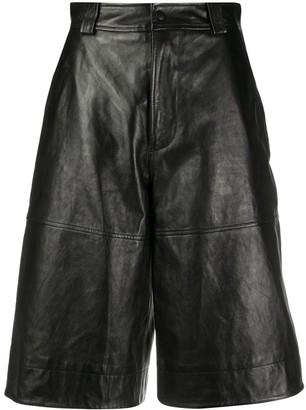 Ganni High-Waisted Knee-Length Shorts