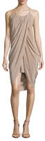 Anine Bing Draped Scoopneck Dress