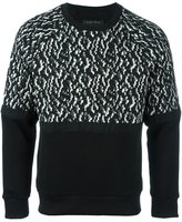 Christian Pellizzari jacquard panel sweatshirt