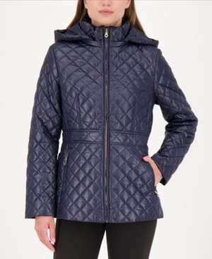 Kate Spade Hooded Quilted Coat, Created for Macy's