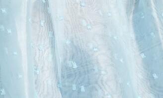 Topshop Dobby Dot Organza Puff Sleeve Sheer Blouse