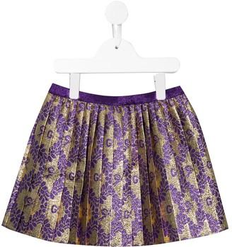Gucci Kids Monogram Pleated Skirt