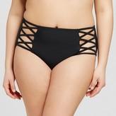 Xhilaration Women's Plus Size Criss Cross Hipster Bikini Bottom