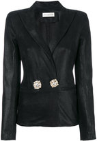 Faith Connexion embellished button blazer