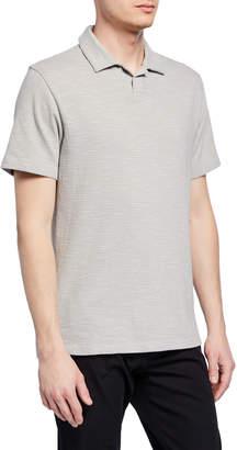 Vince Men's Striped Short-Sleeve Cotton Polo Shirt