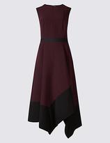 M&S Collection Colour Block Asymmetric Midi Dress