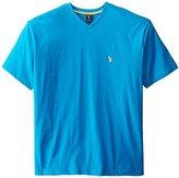 U.S. Polo Assn. Men's Big-Tall V-Neck Short Sleeve T-Shirt, Teal Blue, 2X