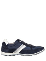 Bikkembergs Crust Leather & Tech Fabric Sneakers