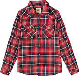 Levi's Boys' Long Sleeve Check Shirt, Red
