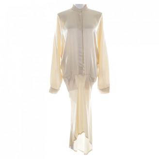 Haider Ackermann Beige Silk Dresses