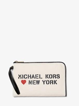 MICHAEL Michael Kors The Michael Medium Canvas New York Pouch