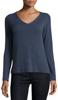 Neiman Marcus Modern Cashmere V-Neck Sweater