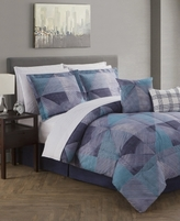 Jessica Sanders CLOSEOUT! Paradigm Navy Reversible 12-Piece Comforter Sets