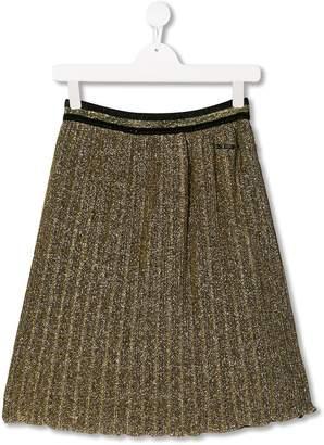 Gaelle Paris Kids laminated pleated skirt