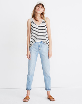 Madewell Tomboy V-Neck Tank Top in Stripe