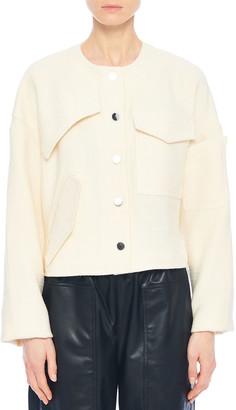 Tibi Basketweave Patch-Detail Short Jacket