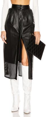 Zeynep Arcay Perforated Leather Snap Skirt in Black | FWRD