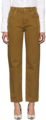 Carven Brown Boyfriend Jeans