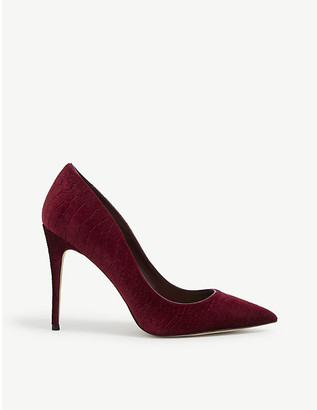 Aldo Stessy pointed-toe suede courts