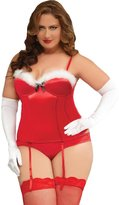 Seven Til Midnight SEVEN 'TIL MIDNIGHT Plus Size Intimates Holiday Naughty Bustier
