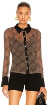 Thumbnail for your product : JONATHAN SIMKHAI STANDARD Tia Shimmer Button Down in Black