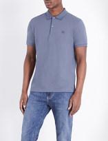 Burberry Check placket cotton-piqué polo shirt