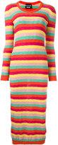 Moschino striped round neck dress - women - Cotton/Polyamide - 42