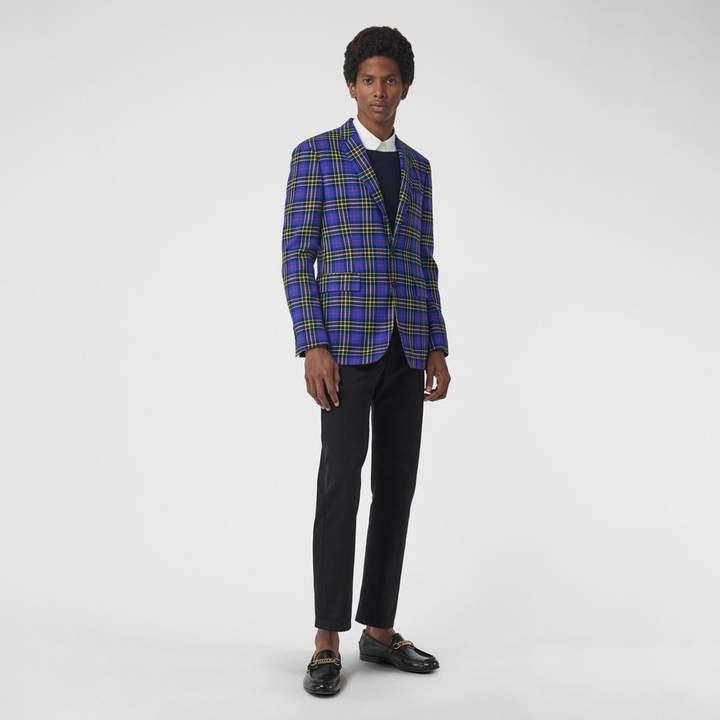 Burberry Classic Fit Tartan Wool Tailored Jacket