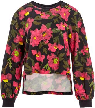 Alice + Olivia Gaia Blouson Sleeve Sweatshirt
