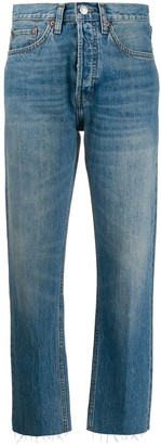 RE/DONE unfinished hem tapered jeans