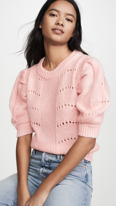 ENGLISH FACTORY Short Puff Sleeve Sweater