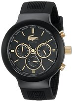 Lacoste Men's 2010687 Borneo Analog Display Quartz Black Watch