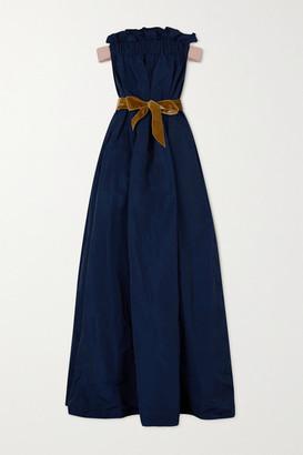 Artclub Oenothera Off-the-shoulder Gathered Taffeta Maxi Dress
