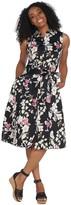 Isaac Mizrahi Live! Tropical Floral Print Shirt Dress