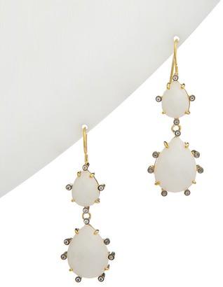 Alanna Bess Spring 14K Vermeil White Agate And White Topaz Florentine Earrings