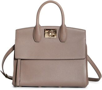 Salvatore Ferragamo The Studio Calfskin Leather Top Handle Bag