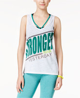 Energie Active Juniors' Camile Contrast-Strap Graphic Tank Top