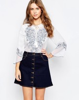 Glamorous Top With Embroidered Detail