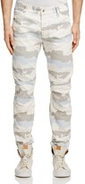 G Star 5622 3D Moto Slim Jeans in White Scatter Snow