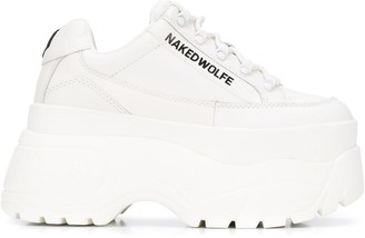 Naked Wolfe Ridged Sole Platform Sneakers