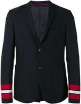 Gucci striped cuffs blazer - men - Cotton/Cupro - 48