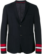 Gucci striped cuffs blazer - men - Cotton/Cupro - 50