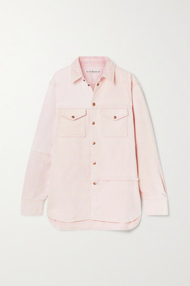 Acne Studios Net Sustain Oversized Organic Denim Jacket - Pastel pink