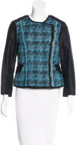Louis Vuitton Tweed-Accented Asymmetrical Jacket