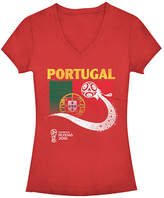 Fifth Sun Red Portugal Flag Ball FIFA World Cup 2018 V-Neck Tee - Juniors