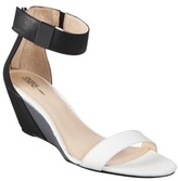 Prabal Gurung Women's for Target® Wedge Sandal with Ankle Strap - Black/Grey