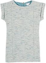 Chloé TWEED SHIFT DRESS-BLUE SIZE 4